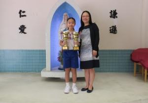 科技體育運動會鐵人賽 魚躍龍門飛行機賽 冠軍 5A 蔡梓澄同學