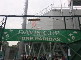 觀賞「台維斯盃」網球賽-中國香港對伊朗