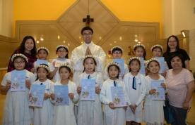學生初領聖體相片